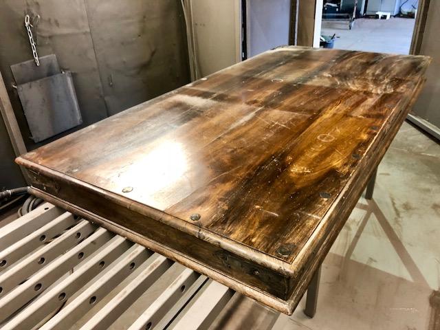 Stralen houten blad